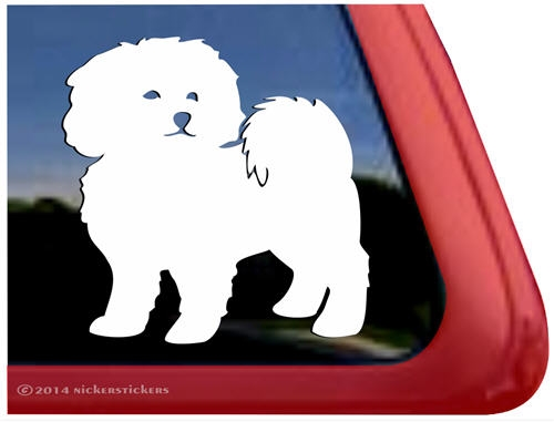 Charmant Custom Bichon Frise Dog Car Truck RV Window Decal Sticker