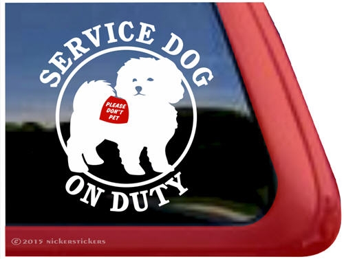 Bichon Frise Window Decal