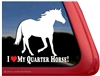 Quarter Horse Trailer Window Decal