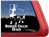 Border Collie Dad Car Truck RV Vinyl Dog Window Decal Sticker