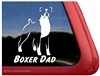 Boxer Dad Dog Decal Sticker Car Auto Window iPad