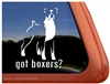 Boxer Dog Decal Sticker Car Auto Window iPad
