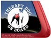 Boxer Therapy Dog Car Truck RV Window Decal Sticker