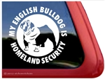 Bulldog Window Decal