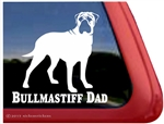 Bullmastiff Window Decal