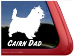 Cairn Terrier Dad Dog iPad Car Truck Window Decal Sticker