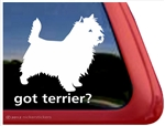 Got Cairn Terrier Dog iPad Car Truck Window Decal Sticker