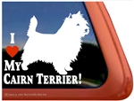Love My Cairn Terrier Dog iPad Car Truck Window Decal Sticker