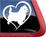 Heart Cairn Terrier Dog iPad Car Truck Window Decal Sticker