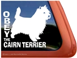 Obey the Cairn Terrier Dog iPad Car Truck Window Decal Sticker