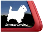 Custom Cairn Terrier Dog iPad Car Truck Window Decal Sticker