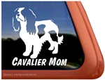 Cavalier Mom Cavalier King Charles Spaniel Dog Car Truck RV Window Decal Sticker