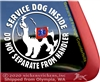Cavalier Service Dog Car Truck Window Decal Sticker
