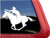Mounted Shooting Mule Trailer Window Decal
