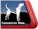 Coonhound Mom Dog Car Truck RV Window Decal Stickers