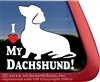 I Love My Dachshund Wiener Dog Car Truck RV Window Decal Sticker