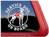 Dalmatian Service Dog Window Decal