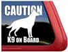 Caution K9 On Board German Shepherd Dog Car Truck RV Window Decal Sticker