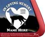 Custom Memorial German ShepherdDog Heart Love Head Car Truck RV Window iPad Trailer Decal Sticker