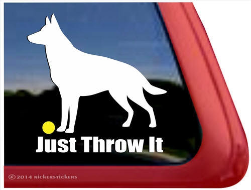 German shepherd dog ipad car truck rv window decal sticker larger photo email a friend
