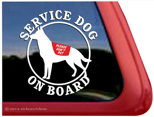 Lovely German Shepherd Decals & Stickers | NickerStickers BW46