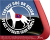 German Shepherd Service Dog Window Decal