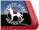 German Shepherd Diabetic Service Dog Window Decal