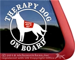 German Shepherd Therapy Dog Window Decal