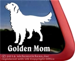 Golden Mom Golden Retriever Dog Car Truck RV Window Decal Sticker