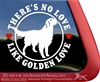 Golden Retriever Dog Car Truck RV Window Decal Sticker