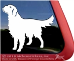Custom Golden Retriever Car Truck RV Window Decal Sticker