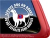 Golden Retriever Service Dog Window Decal