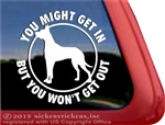 Great Dane Guard Dog Car Truck RV Window Decal Sticker
