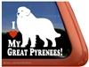 Great Pyrenees Window Decal