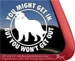 Great Pyrenees Guard Dog Window Decal Sticker