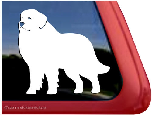 Custom great pyrenees dog car truck rv window decal sticker larger photo email a friend