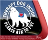 Great Pyrenees Therapy Dog Car Truck Window Decal Sticker
