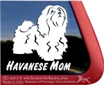 Havanese Mom Vinyl Adhesive Window Dog Decal Sticker