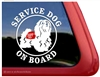 Havanese Service Dog Window Decal