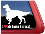 Love My Irish Setter Dog Car Truck RV Window Decal Sticker