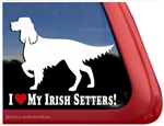 Love My Irish Setters Dog Car Truck RV Window Decal Sticker