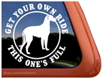 Irish Wolfhound Window Decal