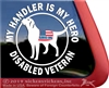 Disabled Veteran Service Dog Labrador Retriever iPad Car Truck Window Decal Sticker