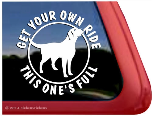 Labrador retriever full ride dog window decal larger photo email a friend