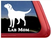Lab Mom Labrador Retriever iPad Car Window Decal Sticker