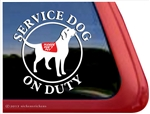 Labrador Retriever Service Dog iPad Car Truck Window Decal Sticker