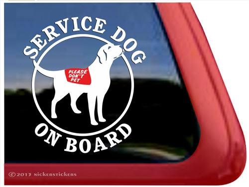 Service Dog Labrador Retriever Decals Amp Stickers