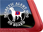 Diabetic Alert Dog Labrador Retriever iPad Car Truck Window Decal Sticker