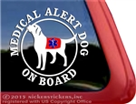 Service Dog Labrador Retriever iPad Car Truck Window Decal Sticker