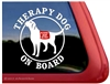 Labrador Retriever Therapy Dog iPad Car Truck Window Decal Sticker